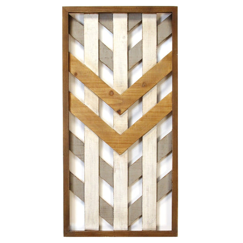 Stratton Home Decor Framed Geometric Wood Wall Panel
