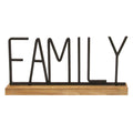 Stratton Home Decor Metal and Wood Family Table Top