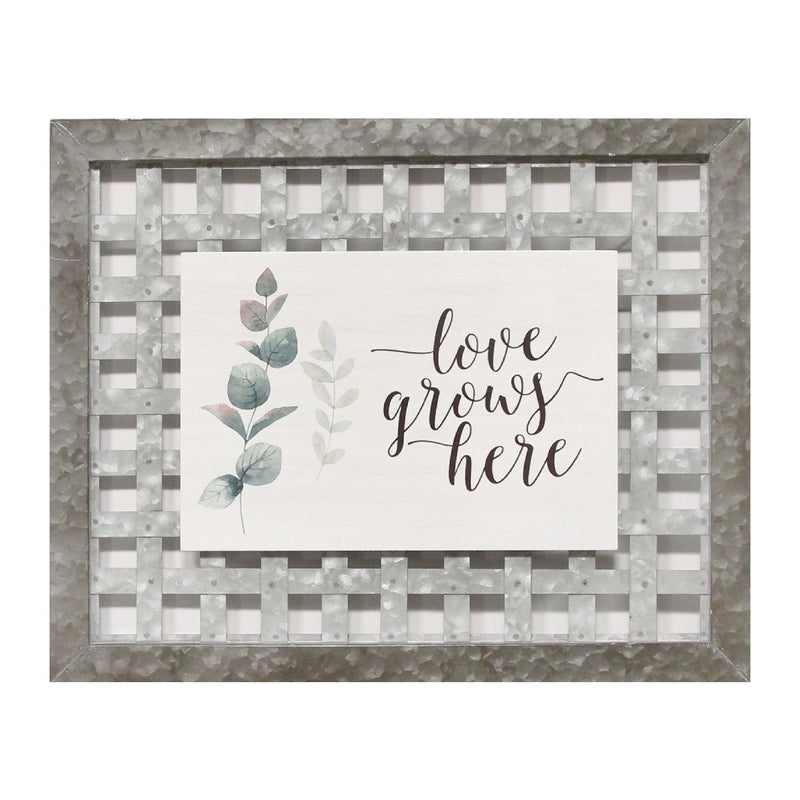 "Stratton Home Decor ""Love Grows Here"" Wall Art"