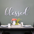 Stratton Home Decor Oversized Blessed Metal Sign