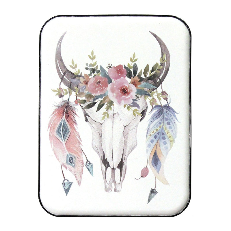 Stratton Home Decor Boho Cow Skull Wall Art