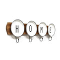 "Stratton Home Decor Enamel Plates ""Home"" Wall Coat Rack"
