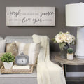 "Stratton Home Decor ""Love you longer"" Oversized Wall Art"