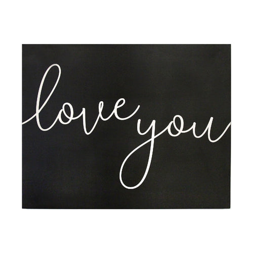 Stratton Home Decor Love you Oversized Wall Art