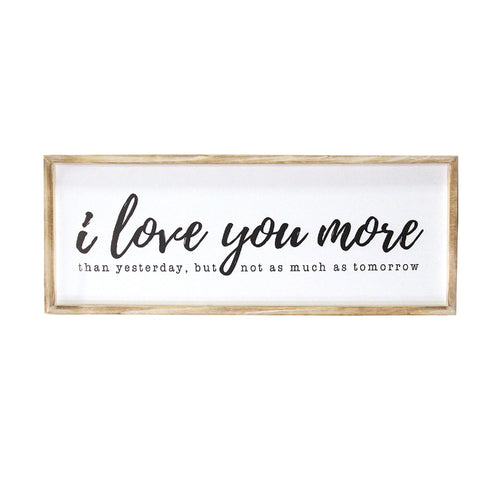 Stratton Home Decor I love you more Oversized Wall Art