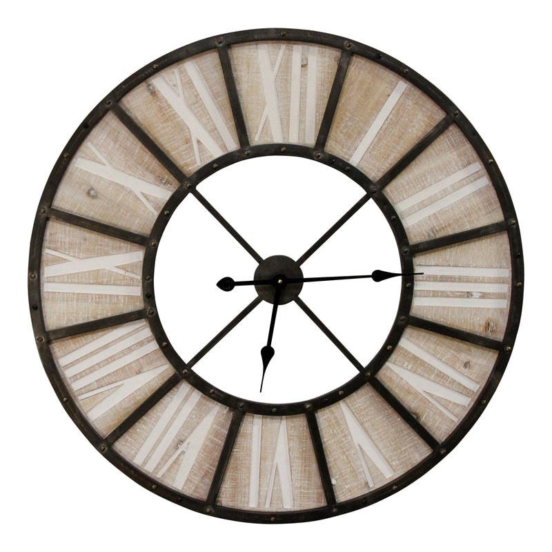 "Stratton Home Decor Over-sized 31.50"" Farmhouse Jackson Wall Clock"