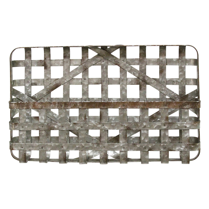 Stratton Home Decor Galvanized Wall Basket