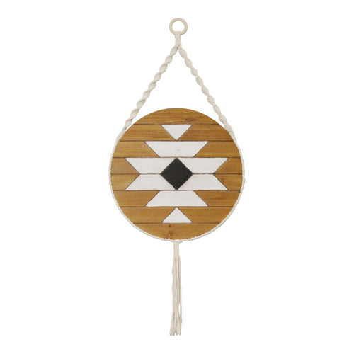Stratton Home Decor Hanging Boho Wood Wall Art