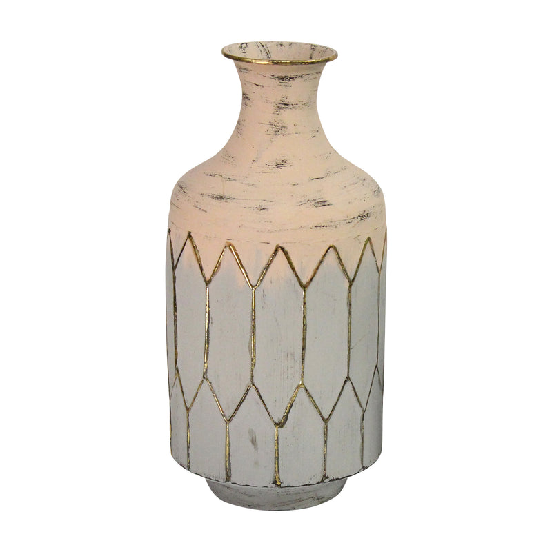 Stratton Home Decor Light Pink Metal Table Vase