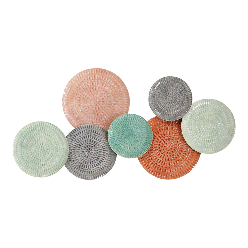 Stratton Home Decor Malibu Textured Metal Plates Wall Decor