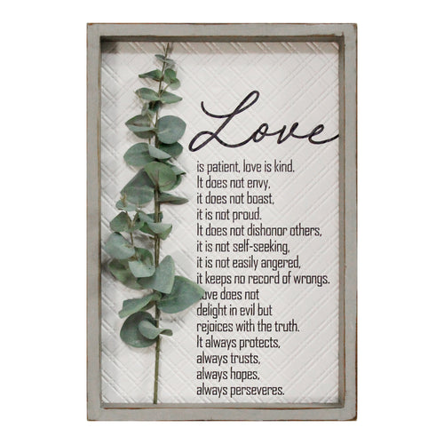 Stratton Home Decor Love is Patient, Love is Kind Wall Art