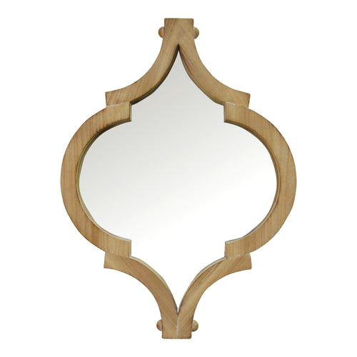 "Stratton Home Decor 19"" Amira Wood Wall Mirror"