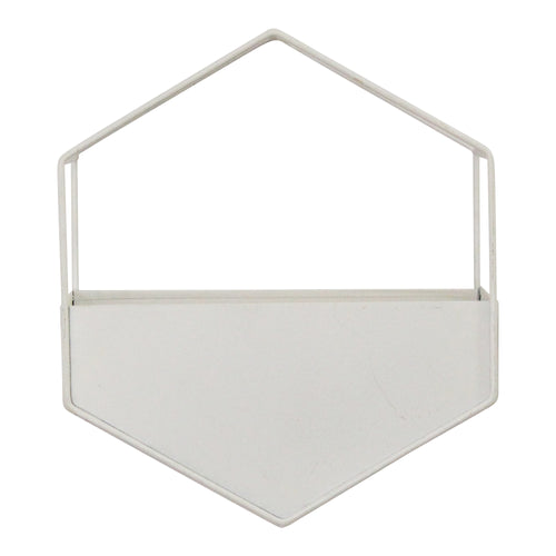 Stratton Home Decor White Metal Wall Planter