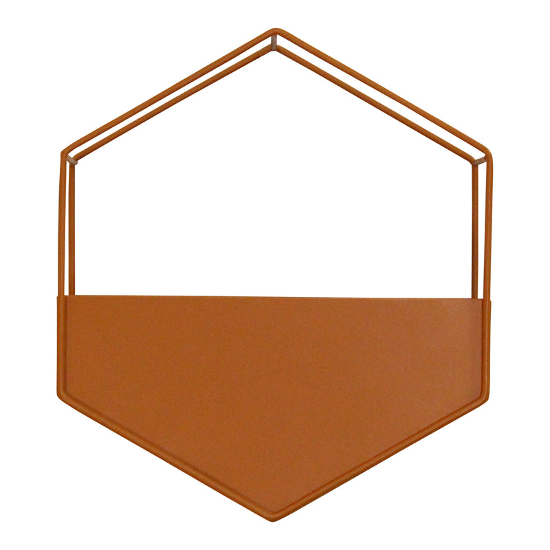 Stratton Home Decor Orange Metal Wall Planter