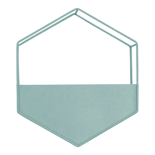 Stratton Home Decor Light Blue Metal Wall Planter