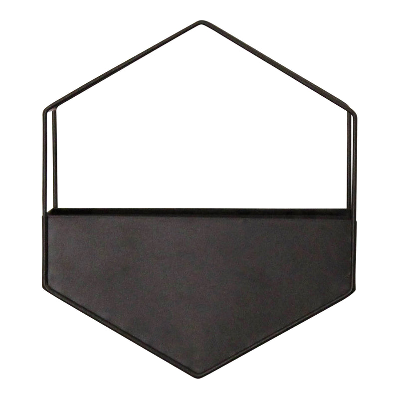 Stratton Home Decor Black Metal Wall Planter