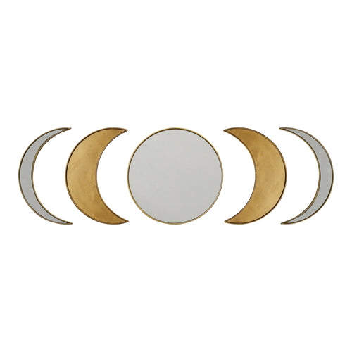 Stratton Home Decor Moon Phase Wall Mirror