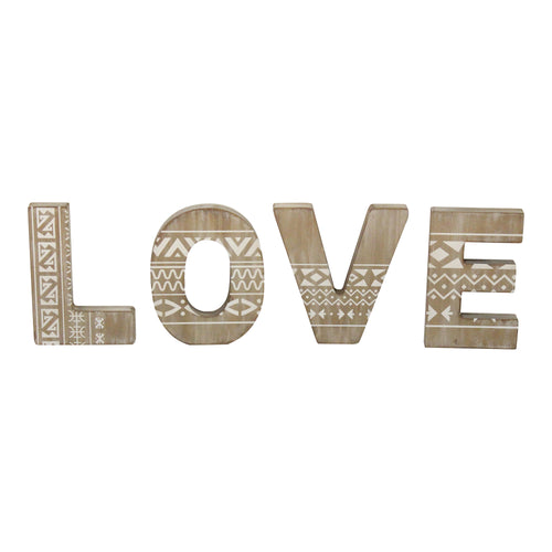 Stratton Home Decor Set of 4 Wood Love Wall Art