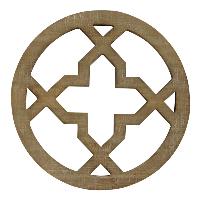Stratton Home Decor Wood Medallion Wall Decor