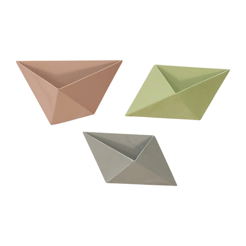 Stratton Home Decor Set of 3 Tricolor Modern Wall Planters