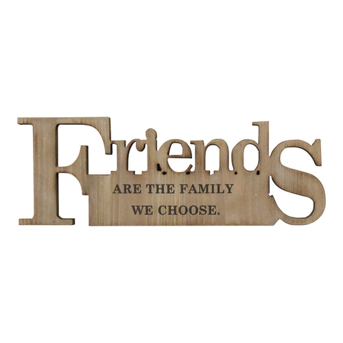 Stratton Home Decor Friends are the family Wood Wall Decor