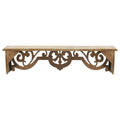 Stratton Home Decor Vintage Wood Scroll Wall Shelf