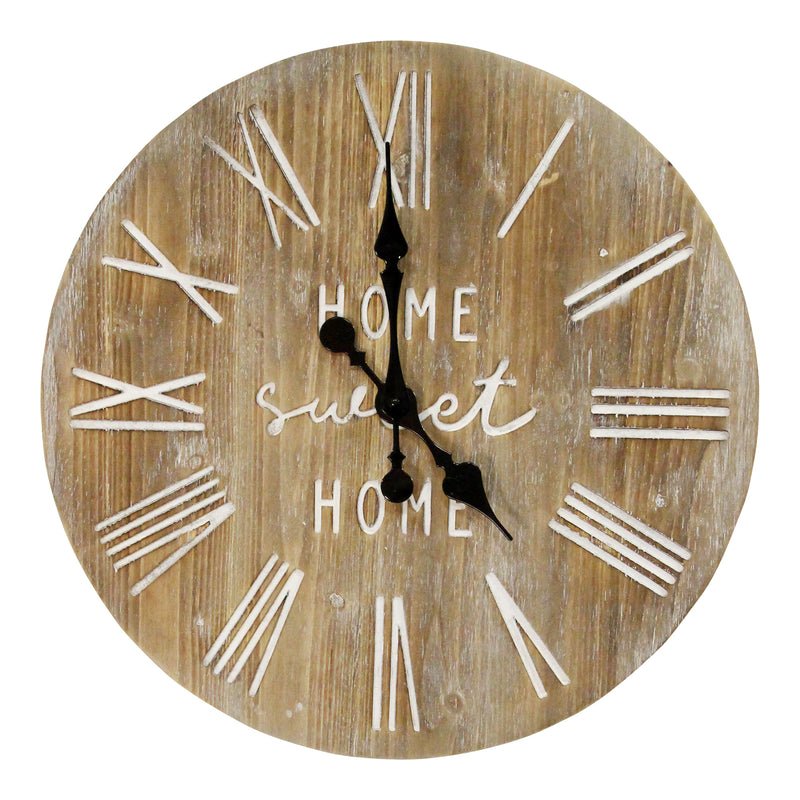 "Stratton Home Decor 23"" Wood Dale Wall Clock"