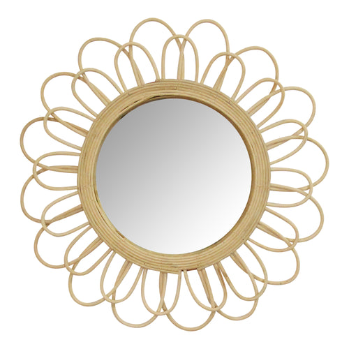 "Stratton Home Decor 18.25"" Diana Rattan Wall Mirror"
