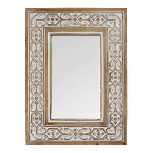 Stratton Home Decor Hillary Wood Wall Mirror