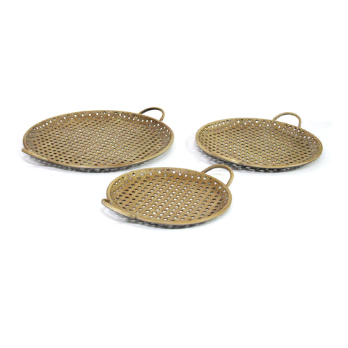Stratton Home Decor Set of 3 Metal Decorative Trays