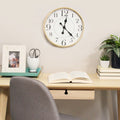 "Stratton Home Decor 14"" Cooper Modern Wall Clock"