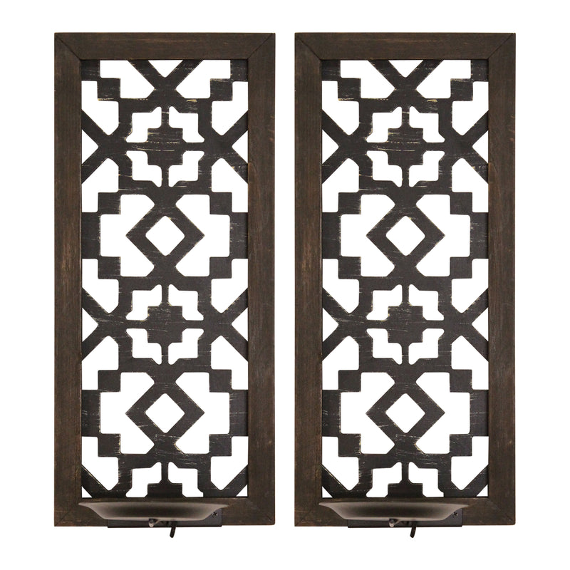 Stratton Home Decor Set of 2 Boho Laser Cut Sconce