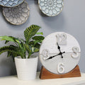 Stratton Home Decor Derrick Two Tone Wood Table clock