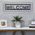 Stratton Home Decor Metal Welcome Wall Décor