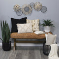 Stratton Home Decor Metal and Rattan Large Centerpiece Wall Décor