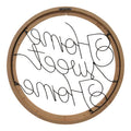 Stratton Home Decor Wood and Metal Home Sweet Home Script Wall Art
