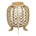 Stratton Home Decor Cassie Wood and Jute Lantern