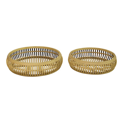 Stratton Home Decor Set of 2 Rattan Trays