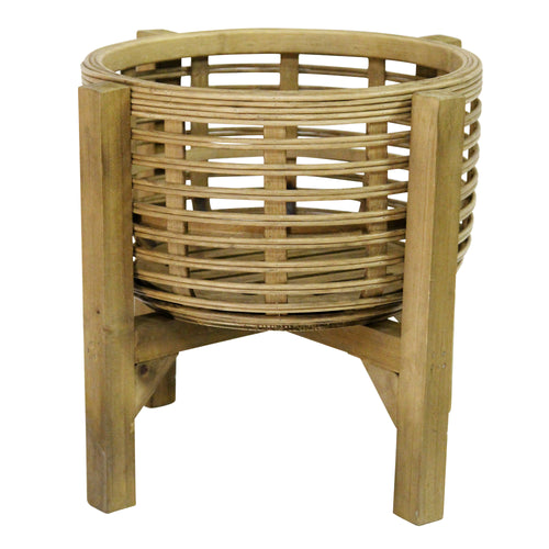 Stratton Home Decor  Rattan Plant Stand