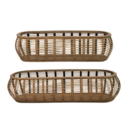 Stratton Home Decor Set of 2 Tulum Rattan Baskets