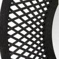 "Stratton Home Decor 38"" Andi Black Woven Rattan Mirror"