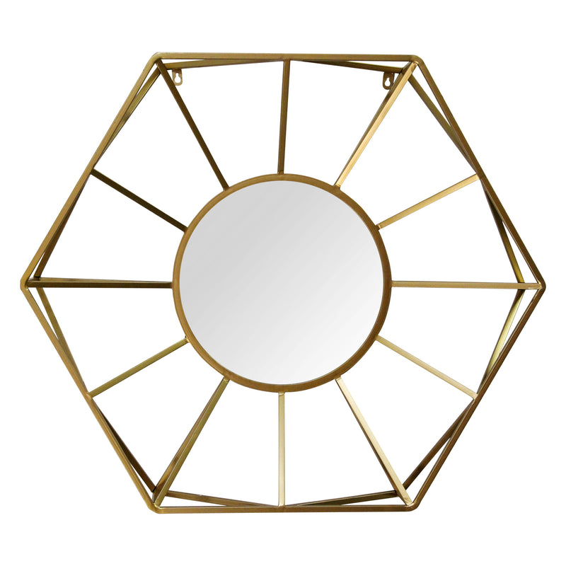 "Stratton Home Decor 32.50"" Hallie Metal Gold Mirror"