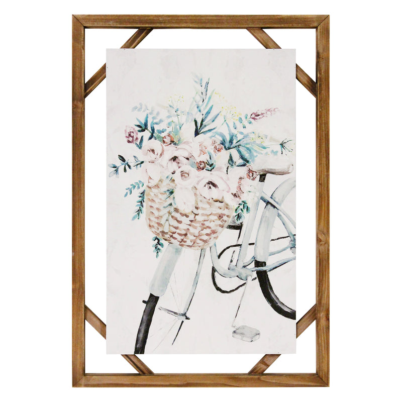 Stratton Home Decor Decorative Shabby Chic Bike Wall Art