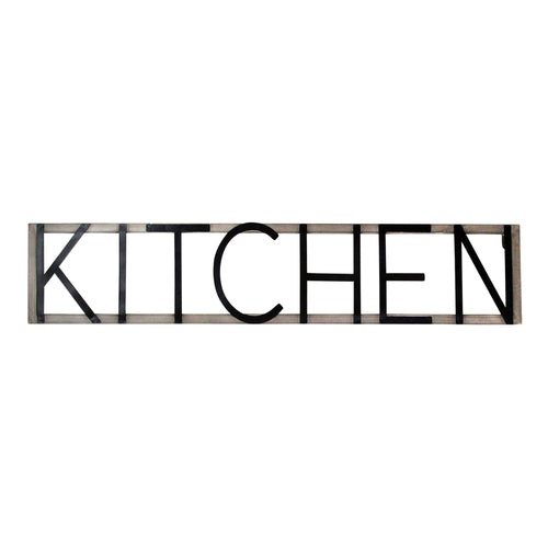 Stratton Home Decor Metal Kitchen Sign Wall Decor