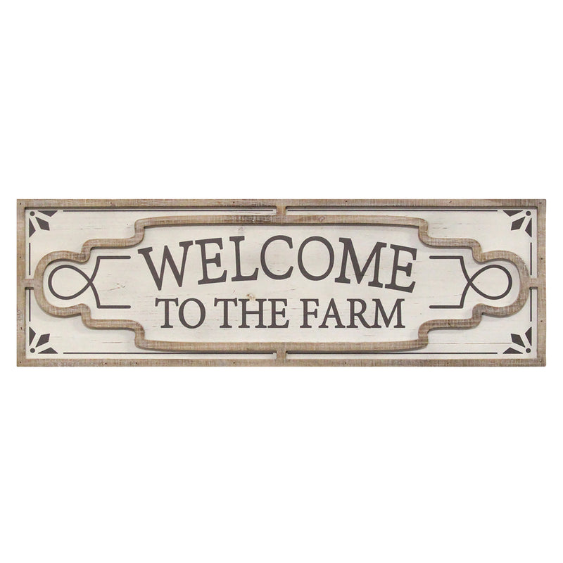 Stratton Home Decor Welcome to the Farm Wood Wall Decor