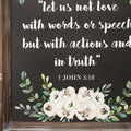Stratton Home Decor Love with Actions and in Truth Quote Wood Wall Art
