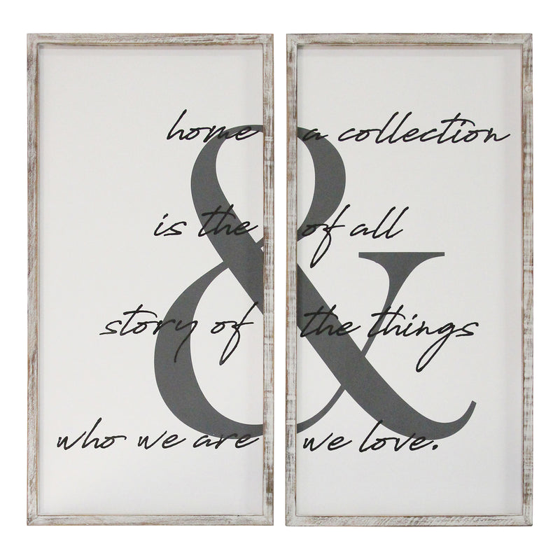 Stratton Home Decor 2 PC Home is the Story Wall Art