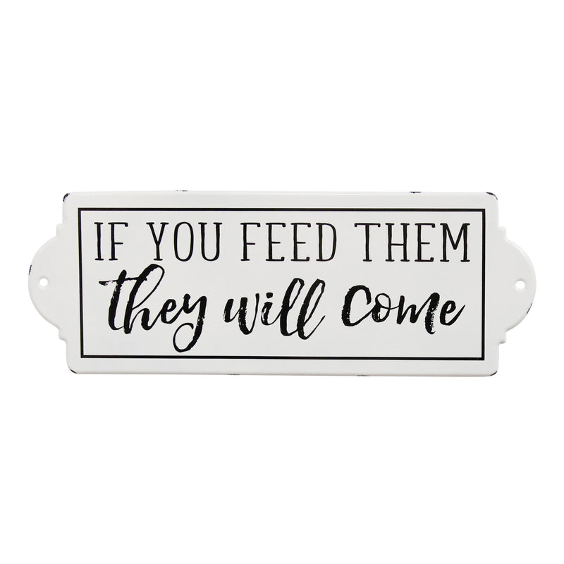 Stratton Home Decor If You Feed Them, They Will Come Metal Wall Art