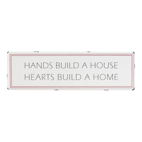 Stratton Home Decor Hearts Build a Home Metal Wall Art