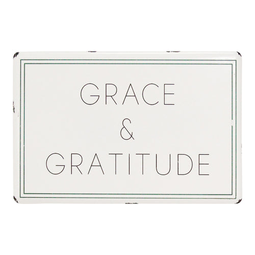 Stratton Home Decor Grace & Gratitude Metal Wall Art